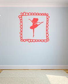 Ballerina Vinyl Wall Decal by OZAVinylGraphics on Etsy