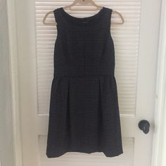 J crew dress J crew dress size 2, barely worn with navy and gray and black detailing. Zippered back J. Crew Dresses Mini