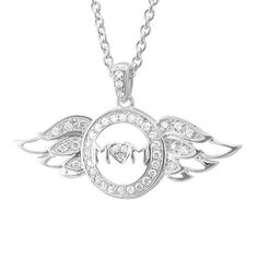 Sterling Silver Heart Love Angel Wing Mothers Day Diamond Pendant Necklace (GH, I1-I2, 0.25 carat) on http://jewelry.kerdeal.com/sterling-silver-heart-love-angel-wing-mothers-day-diamond-pendant-necklace-gh-i1-i2-0-25-carat