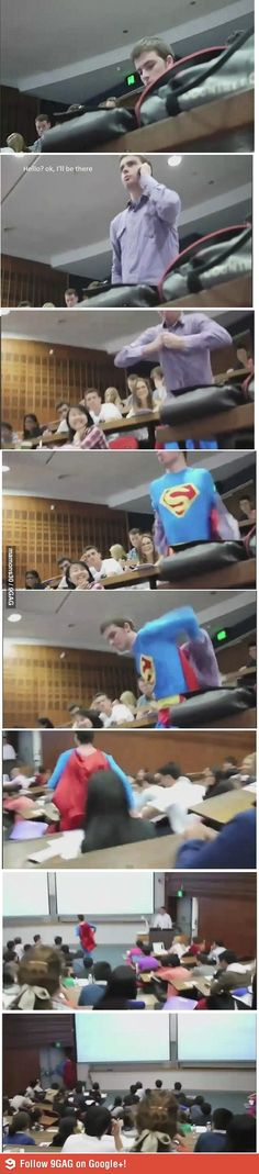 Superman in College.....literally