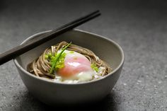 Hot Spring Egg & Soba Made in a Thermo Water Bottle by ladyandpups: What a great idea! #Eggs #Water_Bottle