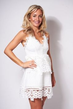 120afaddc6 Taylor White Lace Dress