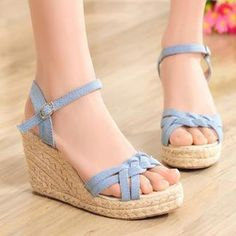 Buy '77Queen – Braided-Strap Espadrille Wedge Sandals' with Free International Shipping at YesStyle.com. Browse and shop for thousands of Asian fashion items from China and more!
