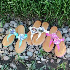 Monogrammed Sandals from Marleylilly.com