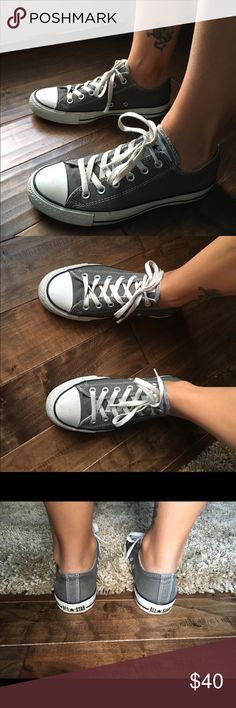 Women's converse Grey women's converse, barely worn and super cute. Converse Shoes Sneakers