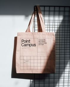 Point Campus by This Works on The Dots. Clear Tote Bags, Custom Tote Bags, Poster S, Jewelry Packaging, Graphic Design Inspiration, Identity Design, Packaging Design, Organizers, Loki