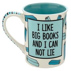 I like big BOOKS and I can not lie! This durable 16 oz stoneware mug is a great size to hold a lot of tea whilst your trying to finish the next chapter. #OurNameIsMud #Mugs #Nerdy