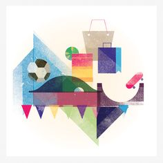 Where2Go illustrations by Mads Berg, via Behance