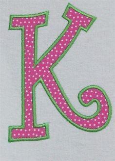 curlz double applique machine embroidery alphabet font embroidery