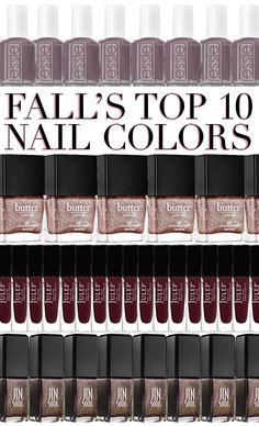 Fall's Top Ten Nail Colors | theglitterguide.com