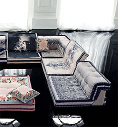 I love the Mah Jong modular from Roche Bobois, even better when Jean Paul Gaultier gets his hands on it