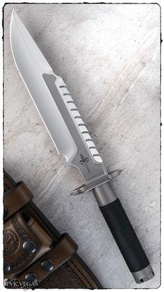 Marfione Custom Interceptor L Tactical Survival Knife Blade + Leather Sheath https://survival-knife.co.uk
