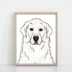 Choose Your Great Pyrenees Art Print Chihuahua Art, Dachshund Art, Golden Retriever Art, French Bulldog Art, Goat Art, Grey Tabby Cats, Cat Art Print, Great Pyrenees, Animal Coloring Pages