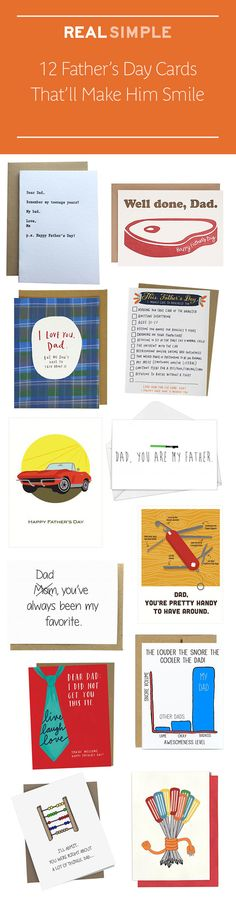 These Father's Day cards are the perfect way to show Dad some love (and make him laugh).