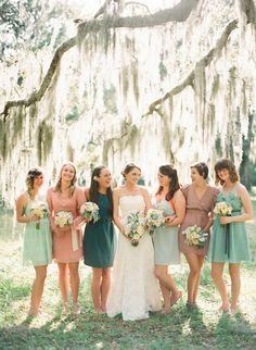 short mismatched bridesmaid dresses style ideas