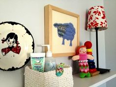A sweet sheep -  wall art from Cate & Levi    Zubel's mermaid rattle  YouFrillMe blog  www.youfrillme.com