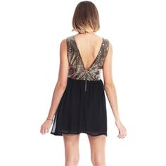 Dress - Gold Sequined Sleeveless Black Dress #pariscoming your personal style online store. #outfit #stylist #Styling #streetstyle #fashionblog #fashiondiaries #fashiondiary #WearIt #WhatYouWear ✿ ❀ like it?