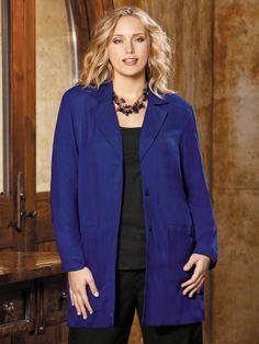 192f61c1e28 Ulla Popken Plus Size Unstructured Twill Blazer  49.00 Blazer Jacket