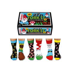 United Oddsocks Fork It Socks Gift Set Elysian Gifts