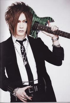 Uruha, guitarist from the visual kei band, GazettE.