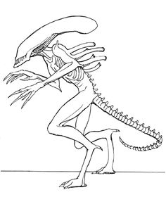 Aliens Coloring Pages Reedit