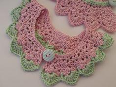Gola vintage crochet , collar crochet