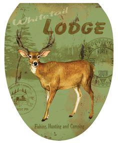 Deer Lodge Toilet Seat Decal