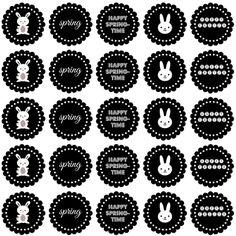 easter labels - black