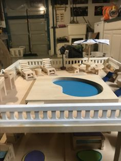 How To Make A Doll Pool With Real Water Youtube Barbie Doll Houses And Furniture Pinterest