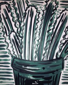 KUNSTstoff painting © Julia Franziska Keser JFK colors pattern green plants greenworld nature leaves handdrawn black shadesofgreen creative artwork Painting Patterns, Color Patterns, Creative Artwork, Green Plants, Jfk, Austria, Pattern Design, How To Draw Hands, Leaves