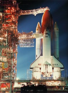 30 YEARS AGO TODAY: The Space Shuttle Columbia on the launch pad at Cape Canaveral, November 26, 1986.