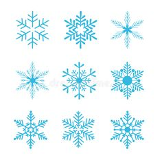 Illustration about Collection of snowflakes, vector illustration. isolated on white background. Illustration of december, illustration, greetings - 6348037 Felt Christmas Decorations, Christmas Crafts, Christmas Ornaments, Deco Noel Nature, Snowflakes Art, Snow Flake Tattoo, Baguio, Topper, Snowflake Designs