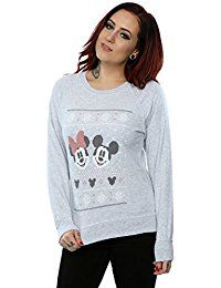 Disney Women'S Mickey And Minnie Mouse Christmas Sweatshirt Womens Christmas Jumper, Christmas Jumpers, Mickey Mouse Christmas, Minnie Mouse, Jumpers For Women, Hoodies, Sweatshirts, Shirt Blouses, Fashion Brands