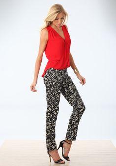 Tall Printed Sateen Pants for Women | Long Elegant Legs