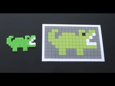 Cute Alligator Perler Bead Pattern. Laceys Crafts is all about sharing super simple and adorable crafts for kids. Enjoy!