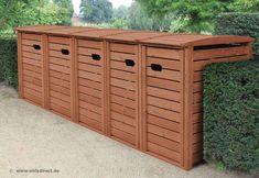 Trash Can Covers, Green Bin, Bin Store, Backyard Trees, Carport Designs, Malm, Storage Bins, Outdoor Furniture, Outdoor Decor
