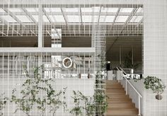 Green grid wire facade; loft vrc - Google Search