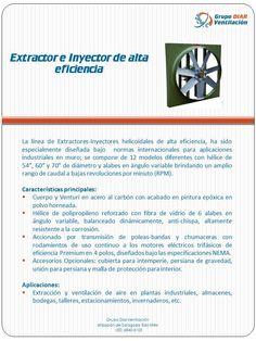 Extractor e inyector de alta eficiencia.