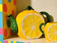 Treasury Item Kitschy Retro Lemon Shaped Small by SueEllensFlair, $60.00