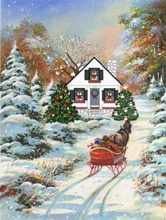 How I wish this was my home and  my horse and sleigh.