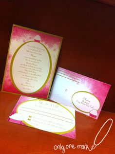 Refined Cupcake Invitation by OnlyOneMarkINC on Etsy, $45.00