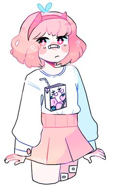 Kawaii Drawings, Art Drawings Sketches, Cartoon Drawings, Cute Drawings, Drawings For Boys, Kawaii Girl Drawing, Cute Girl Drawing, Anime Girl Drawings, Arte Do Kawaii
