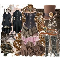 Steampunk outfit. #Steampunk #Gothic #Fashion