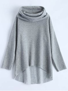 Women Sweatshirt Blouse T Shirt High Low Hoodie Loose Long Sleeve Casual Hoodie Sweatshirts, Hoody, Hoodies For Sale, Mode Hijab, Sammy Dress, Grey Hoodie, Types Of Sleeves, Clothes For Women, High Low