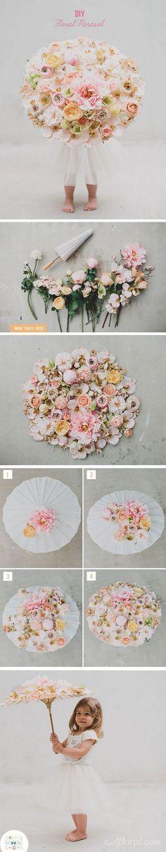 39 DIY Floral Parasol
