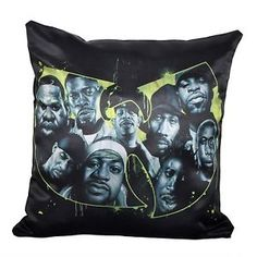 Classic WU TANG CLAN 2pc limited edition Throw pillows urban music art collection #hiphop #wutang #wutangclan #rap #urbanstyle #homedecor
