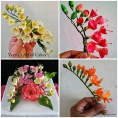 Gum Paste Freesias - Veena's Art of Cakes
