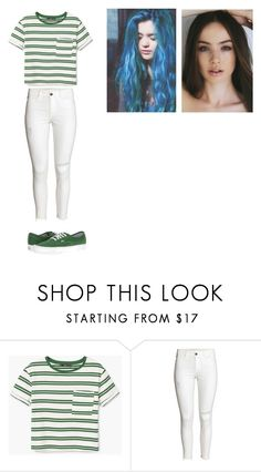 """""""green and white"""" by justanotherbandobsessedgirl ❤ liked on Polyvore featuring MANGO and Vans"""