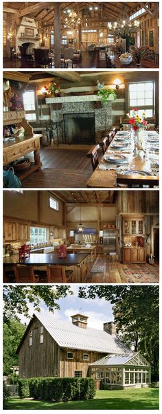 Dream Barn Home - Juliet Jones: fine barn living. Cabin Homes, Log Homes, Future House, My House, Barn Living, Pole Barn Homes, My Dream Home, Dream Barn, Modern Farmhouse