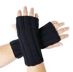 Armstulpen mit Daumenloch Arm Stulpen stricken im Bündchenmuster Herren Männer Anleitung DIY kostenlos